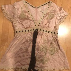 Nanette Lepore Satin blouse
